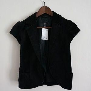H&M Velvet Short Sleeve Blazer