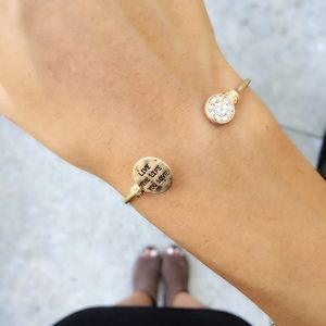 Live the Life You Love Gold Cuff