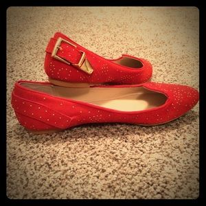 Red flats from Shoemint