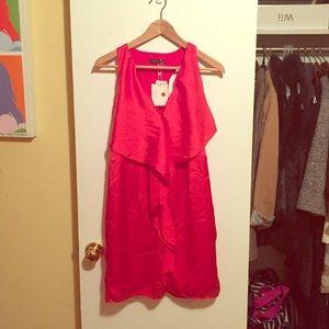 Theme Red Satin Dress