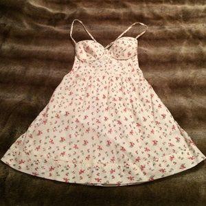 Guess Cream Floral Print Dress