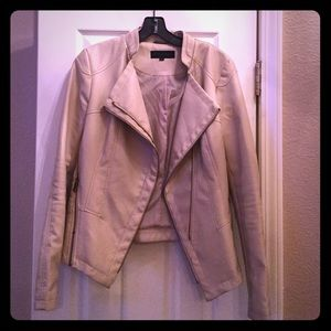 Steve Madden Jackets & Blazers - Cream faux leather jacket