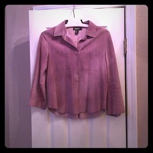 DKNY Jackets & Blazers - DKNY light purple leather jacket