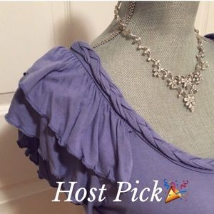 🎉HP🎉Lovely & Delicate Periwinkle Blouse by NY Co