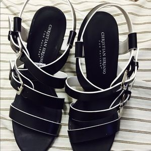 Christian Siriano Shoes - Black and white heels