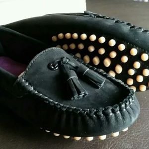 Girls L'Amour Studded Loafer Shoes Black Sweet!
