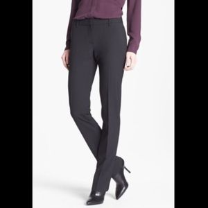 Theory Charcoal Grey Straight Leg Trousers