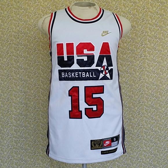 low priced 250c0 b4b5c Mens Nike Earvin Magic Johnson Olympic Jersey