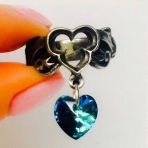 Last Love Swarovski Crystal Heart Ring 7