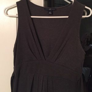 Gap knee length dark grey dress
