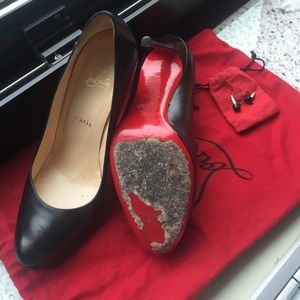 brand new b8eae 43dcb Gently Used Authentic Louboutins (size 7.5)