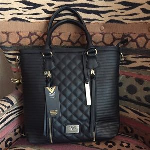 Versace Sportif Tote in Black
