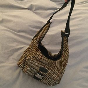 Ralph Lauren Nylon Hobo Bag - houndstooth print