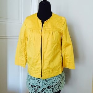 Anthropologie Essential for Fall Yellow Blazer!