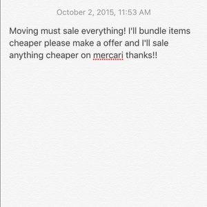 Moving blow out sale! Plz send offers