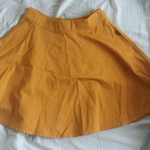 WESC  Dresses & Skirts - Mustard colored skater skirt, short and quirky