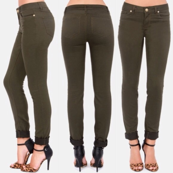 60% off Paige Jeans Denim - *PAIGE* Olive colored skinny jeans ...