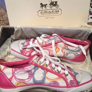 Coach Shoes - NIB-Pink Coach sneaker