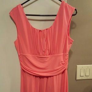 Salmon/Orange knee length dress