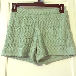 Mint Green Shorts