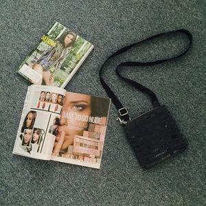 Juicy Couture Black Velour Crossbody Bag