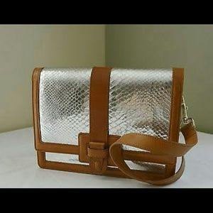 Brahmin Handbags - Brahmin Atelier Snakeskin Brookline clutch purse.
