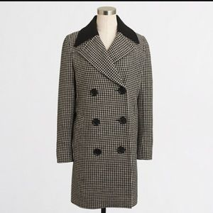Jcrew houndstooth coat