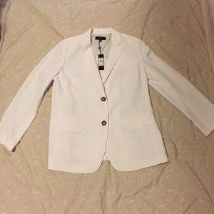 Talbots white blazer