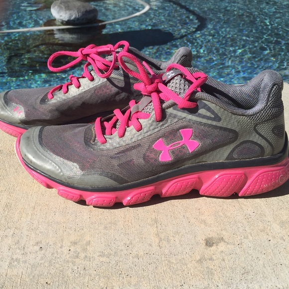 under armour gray and pink shoes off 54