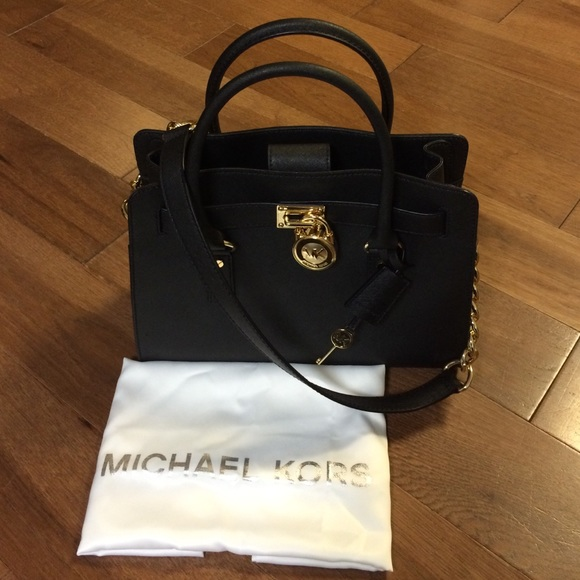 185592a6fab83b michael kors east west satchel black metallic silver bag - Marwood ...