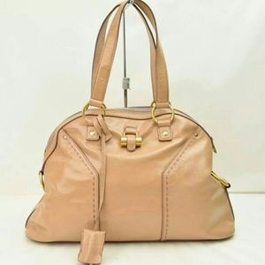 77% off Yves Saint Laurent Handbags - Ysl muse patent beige bag ...
