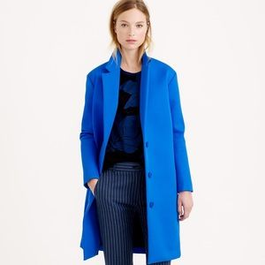 J. Crew Jackets & Blazers - J.Crew Collection Bonded Twill Cobalt Topcoat - 0