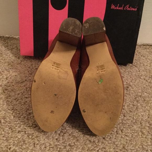 Michael Antonio Shoes - 🍁🍂Michael Antonio Mallory Booties In Cognac🍂🍁