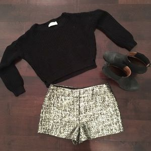 Forever 21 tweed lurex short - size small