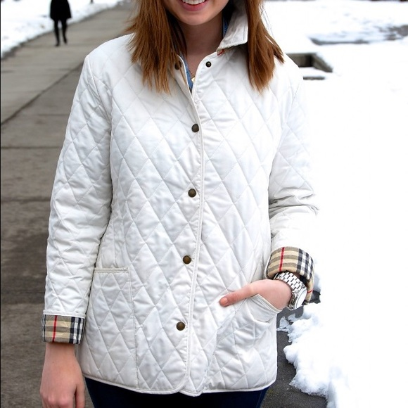 Burberry Jackets Amp Coats White Quilted Jacket Authentic
