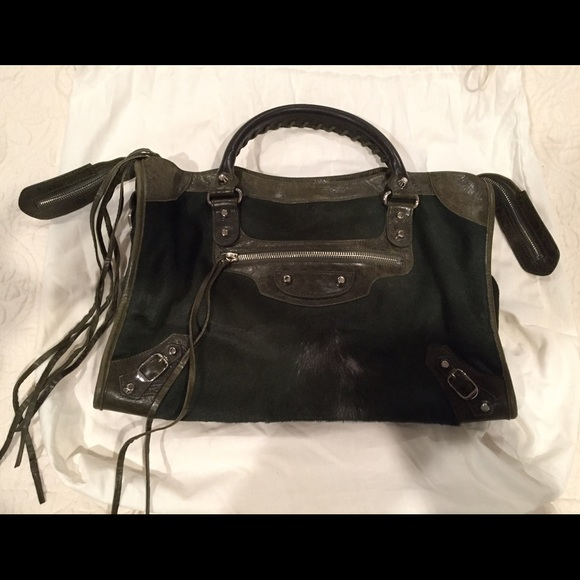 3d4b23dbcc Balenciaga Handbags - Balenciaga Pony Hair Classic Motorcycle Bag