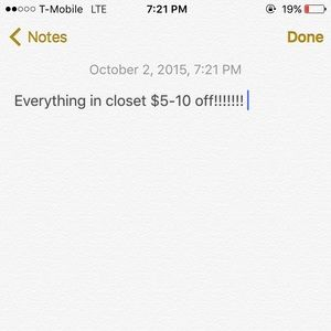 Other - Everything in closet is having a discount!