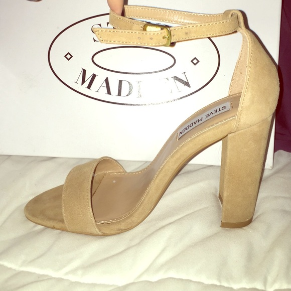 f903a666105 Steve Madden Carrson heels with strap NWT