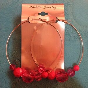 ❗️FINAL SALE❗️Pink hoop earrings