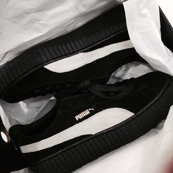 on sale c8ae0 42975 PUMA FENTY by Rihanna Black and White. NWT