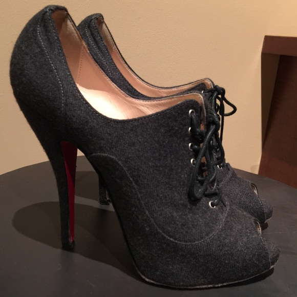 factory price d8491 a0fb6 Christian Louboutin 120mm Flannel Bootie Heel 37.5