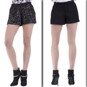 Cut25 by Yigal Azrouel Pants - Cut 25 by Yigal Azrouel Sequined Shorts