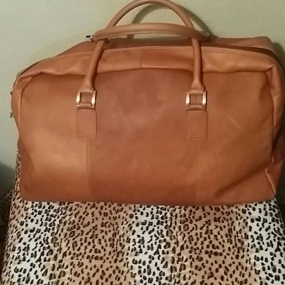 67% off Wilsons Leather Handbags - Wilson Leather Camel Duffle Bag ...