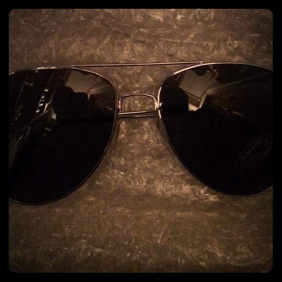 black tinted aviator sunglasses  Black Tinted Aviator Sunglasses Very Classy/ Elega OS from ...