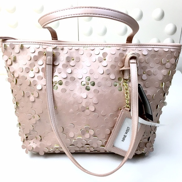 58% off Nine West Handbags - Nine West Cutout flower Pink nude ...