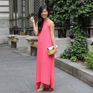 Chicwish Dresses & Skirts - Coral Pleated Maxi Dress