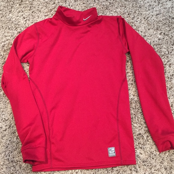 26234de17 Nike boys large combat compression long sleeve red.  M_560fee1cd14d7bb75d0009a4