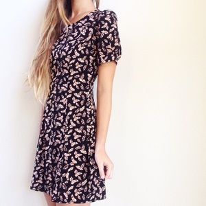 | new | feather print dress