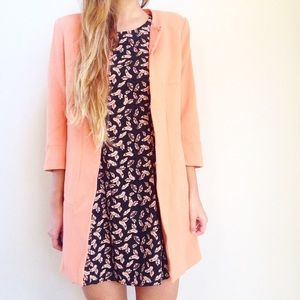 | new | peach coat