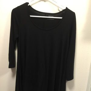 Motherhood maternity black flare top black medium